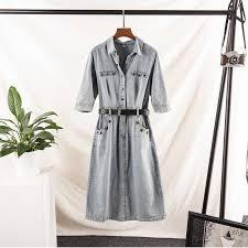 Random Denim dress for women <b>2019</b> Summer dresses plus large ...