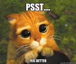 PSST.... feel better - Puss in boots - quickmeme via Relatably.com