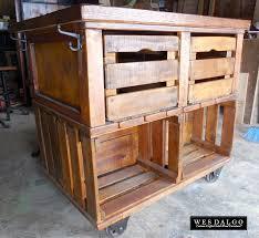 Rustic Farmhouse Kitchens Rustic Farmhouse Apple Cart Kitchen Island Cart Wes Dalgo Wes