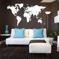Extra Large World <b>Map</b> Vinyl Wall <b>Sticker</b>   Vinyl <b>wall stickers</b>, Home ...