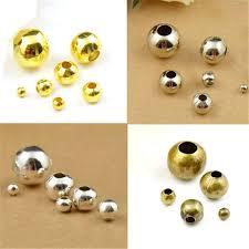 LINSOIR <b>100pcs</b>/<b>lot 8 10 mm</b> Large Big Hole Beads Gold Silver ...