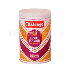 Купить <b>кофе Malongo молотый</b> Итальянский вкус 250 гр (ж.б.) цена
