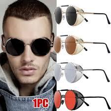 <b>Metal Steampunk Sunglasses</b> Retro Round Men Women Brand ...