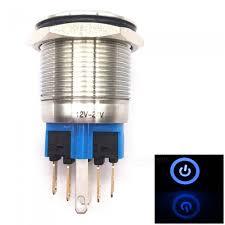 BTOOMET 12- 24V 18mm Blue Light <b>22mm</b> Mounted Thread locking ...