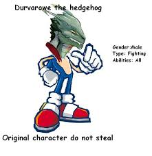 original character durvarowe the heddogeh | Sonic Original ... via Relatably.com