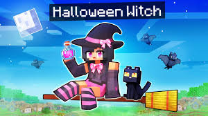 Playing Minecraft as a <b>WITCH</b> on <b>HALLOWEEN</b>! - YouTube