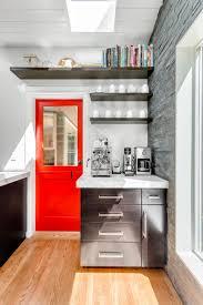 schemes kitchen gray red