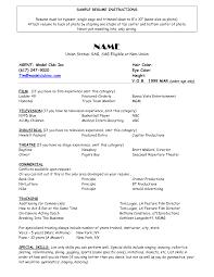 resume models
