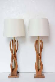 beautiful mid century modern danish style teak wood table lamps 2 beautiful mid century modern danish style teak