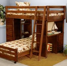 solid wood frame l shape bunk beds with stairs complete with desk and drawers brown solid wood shape home