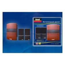 <b>Звонок</b> беспроводной <b>Uniel</b> UDB-004W-R1T2-32S-100M-RD ...