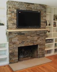 room tv fireplace rock