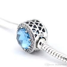 <b>100</b>% Genuine <b>925 Sterling</b> Silver Dangle Heart Radiant CZ Crystal ...