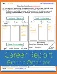 th grade career portfolio project graphic organizer completed awesome career report graphic organizer aligned to s 5th grade career portfolio project college