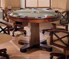pool table dining tables: three in one cherry poker bumper pool dining table