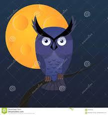 <b>Owl</b>, <b>Moon</b> Vector <b>Cartoon</b> Illustration Stock Vector - Illustration of ...