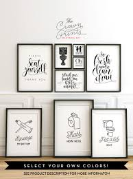 Etsy Art Printable Bathroom Wall Art From The Crown Prints On Etsy Lots