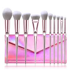 China <b>10PCS Pink</b> Synthetic Hair <b>Cosmetics</b> Brushes Eyeshadow ...