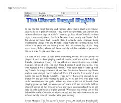 the worst day of my life   gcse english   marked by teacherscom document image preview
