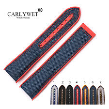 <b>CARLYWET 20 22mm Wholesale</b> Rubber Silicone With Nylon ...