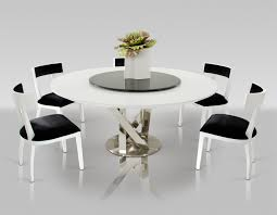Contemporary Round Dining Table For 6