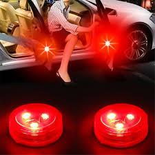 <b>2 x Car Door</b> Opened <b>Warning</b> Lamp Strobe Flash Anti-collision ...