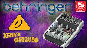 Микшерный <b>пульт BEHRINGER XENYX</b> Q502USB - YouTube