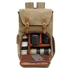 Waterproof Shock-resistant Canvas Camera <b>Bag Retro Style</b> Travel ...