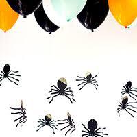 DIY Hanging Spider <b>Balloons</b> for <b>Halloween</b>