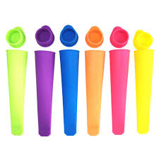 <b>New Colorful Silicone</b> Ice Pop Mold Popsicles Mould with Lid DIY ...