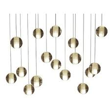 Orion 16 Light Rectangular Floating <b>Glass Globe LED Chandelier</b> ...