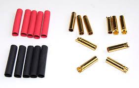Goldconnector <b>female 4mm</b> (<b>10 pcs</b>.) | CAR accus + hardcase ...