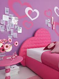 girls room decor ideas painting: fancy teenage girl bedroom painting ideas pink tufted headboard comfortable bed soft purple love theme bedroom