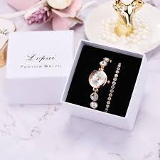 <b>3pcs</b>/Set Luxury Fashion Simple Dial Steel Strip <b>Watch Women</b> Full ...
