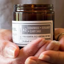 Cedarwood · Bergamot · Clary Sage <b>Aromatherapy</b> Candle [<b>A2</b>-30]