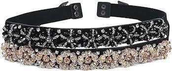 <b>2019 New Arrival</b> Designer Luxury Crystal Elastic Women Wide Belt ...