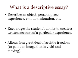 what is a descriptive essay descriptive essay for week  the descriptive essayltbr gt  what
