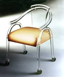ch007 game chair on casters acrylic furniture lucite