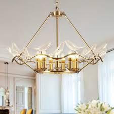European <b>Full Copper Pendant Lights</b> Fixture LED Light Glass Bird ...