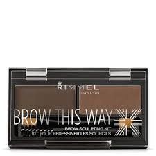 Rimmel <b>Brow</b> This Way <b>Eyebrow Kit</b> - 003 Dark <b>Brown</b> | lookfantastic ...