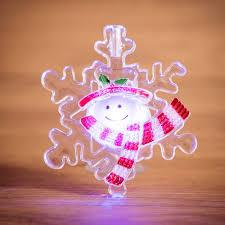 "<b>Фигура светодиодная</b> на присоске ""Снеговик на <b>снежинке</b> ..."