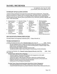 financial resume format template financial resume format
