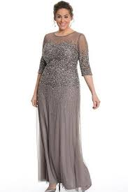 Sheath/Column 1/2 Sleeves Sequins Long Plus Size Mother of the ...