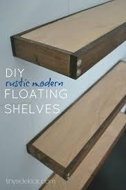 diy rustic modern floating shelves build floating shelves