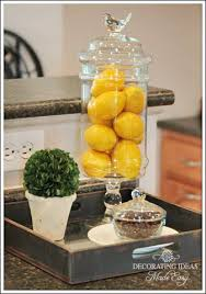 dishy kitchen counter decorating ideas: cute decorating idea for kitchen glass container thinking home store here fill