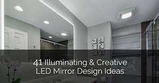 41 Illuminating & Creative <b>LED Mirror</b> Design Ideas | Home ...
