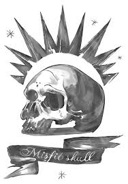 Misfit Skull - super high res for <b>printing</b> your own Chloe top ...