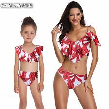 Detail Feedback Questions about <b>Mother Daughter Swimsuit</b> Family ...
