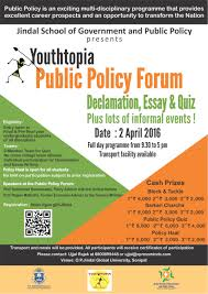 youthtopia 2016 at jindal school of government and public policy youthtopia 2016 poster