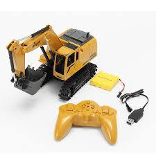 AO HAI <b>1</b>/24 <b>2.4Ghz</b> 8CH Die-cast Remote Excavator Engineer ...
